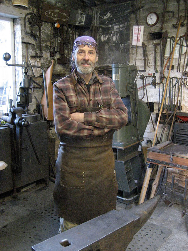 Stephen Lunn, a blacksmith from Red Row, was one of the instigators of the Forge In event in 2004.