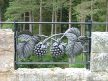 Brian Russell was inspired by the fruits of the forest for his panel, created during the exciting Forge In weekend held at Kielder Castle in 2004.
