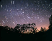 Star trails over Kielder
